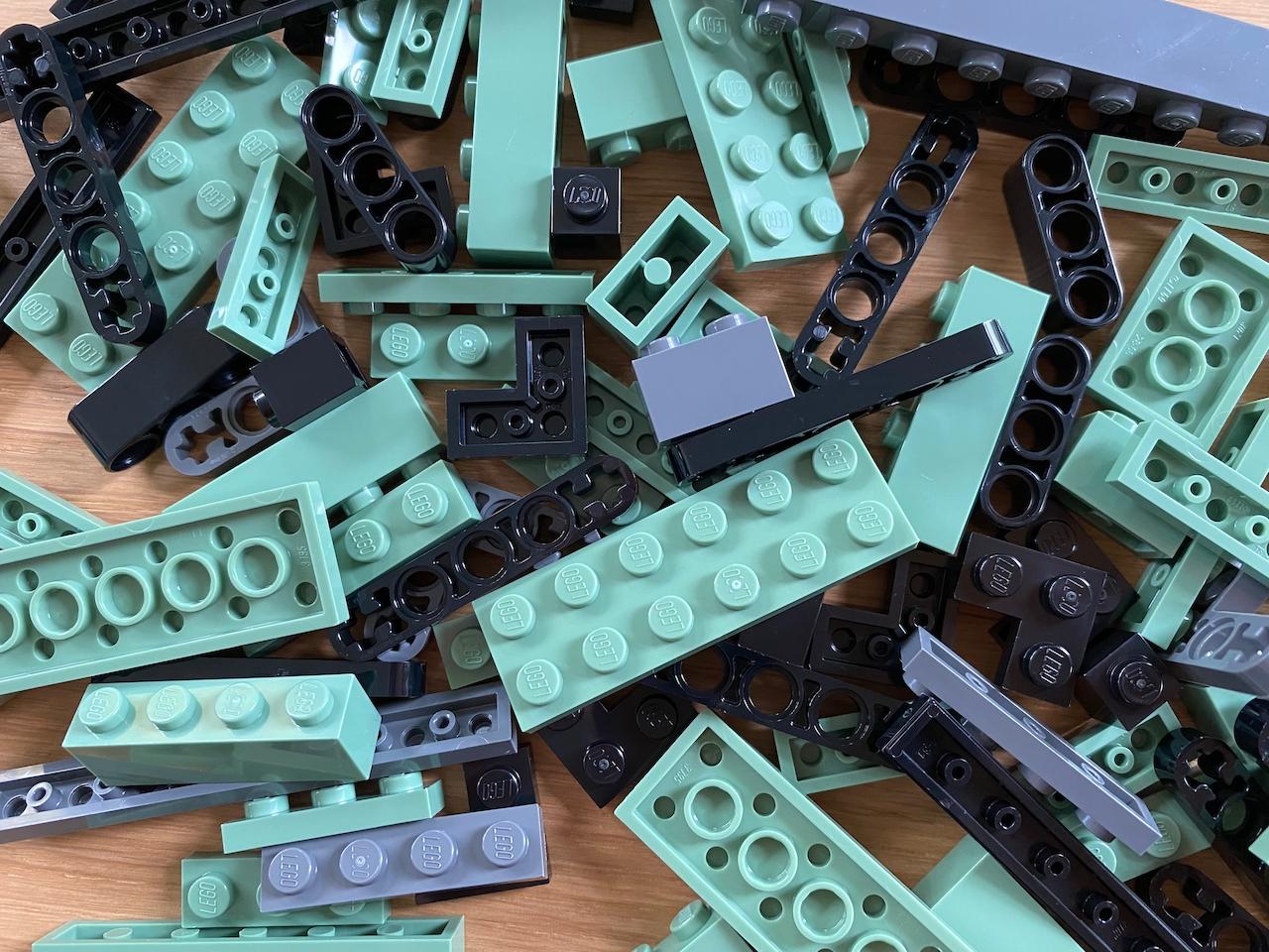 Lego closeup from typewriter kit
